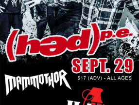 Sept. 29, 2018- Montage Music Hall - Rochester, NY - (HED)PE   Mammothor   Hate Grenade
