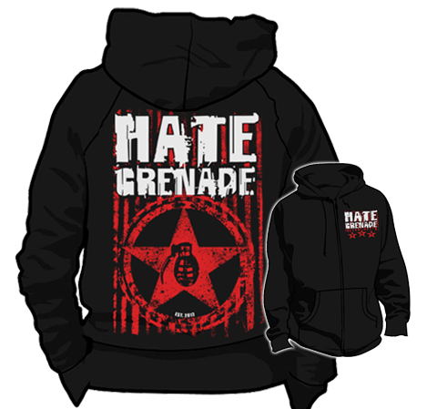 Hate Grenade - Zip-Up Hoodie (Military Star)