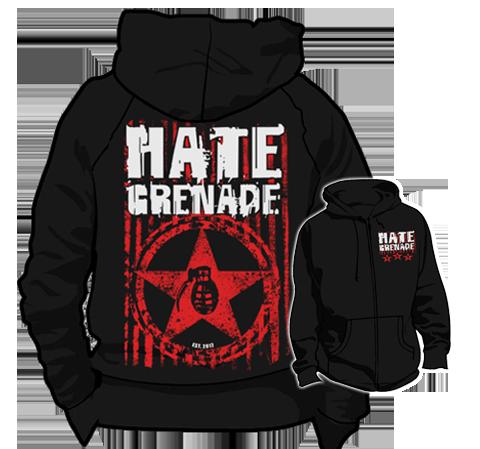 Hate Grenade - Zip-Up Hoodie (Military Star)