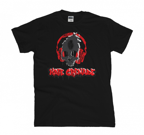 Hate Grenade - Skullphones T-Shirt