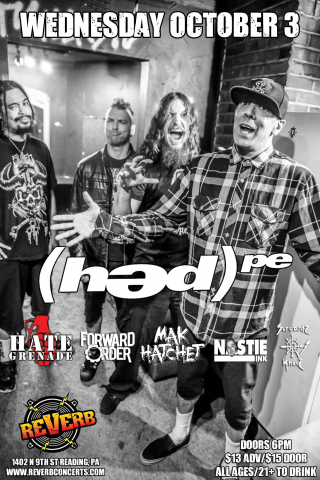 (HED)PE and HATE GRENADE w/ Forward Order, Mak Hatchet, Nastie Ink, and Servantz Khaaz  (Oct 3, 2018 - Club REVERB - Reading, PA