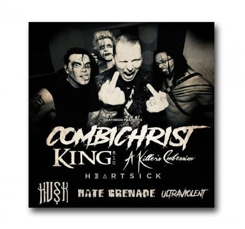 April 19 - Combichrist, King 810, A Killer's Confession, Heartsick, Husk, Hate Grenade, and Ultraviolent will be LIVE at Reverb in Reading, PA