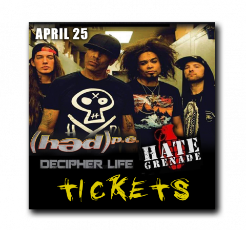 April 25 - Harrisburg Midtown Arts Center - Harrisburg, PA | (HED)PE, Decipher Life, Hate Grenade - $20 - ALL AGES