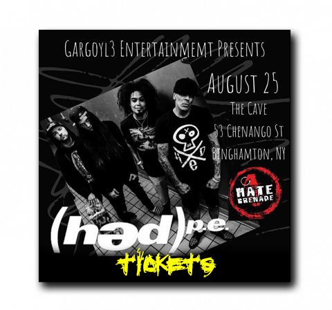 AUG 25 2021 - Gargoyl3 Entertainment Presents (HED)P.E. & Hate Grenade LIVE at The Cave in Binghamton, NY.