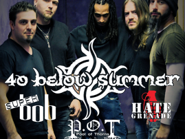 **MAY 13** 40 Below Summer | Super Bob | Pool of Thorns | Hate Grenade - REVERB (Reading, PA)