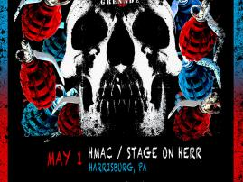 Hate Grenade is performing a night of Deftones on May 1 at Harrisburg Midtown Art Center,  Harrisburg, PA. May 2 at McGarveys Bar, Altoona, PA.  May 29 at Suite 710 in Hagerstown, MD